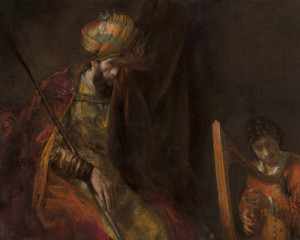Saul and David by Rembrandt